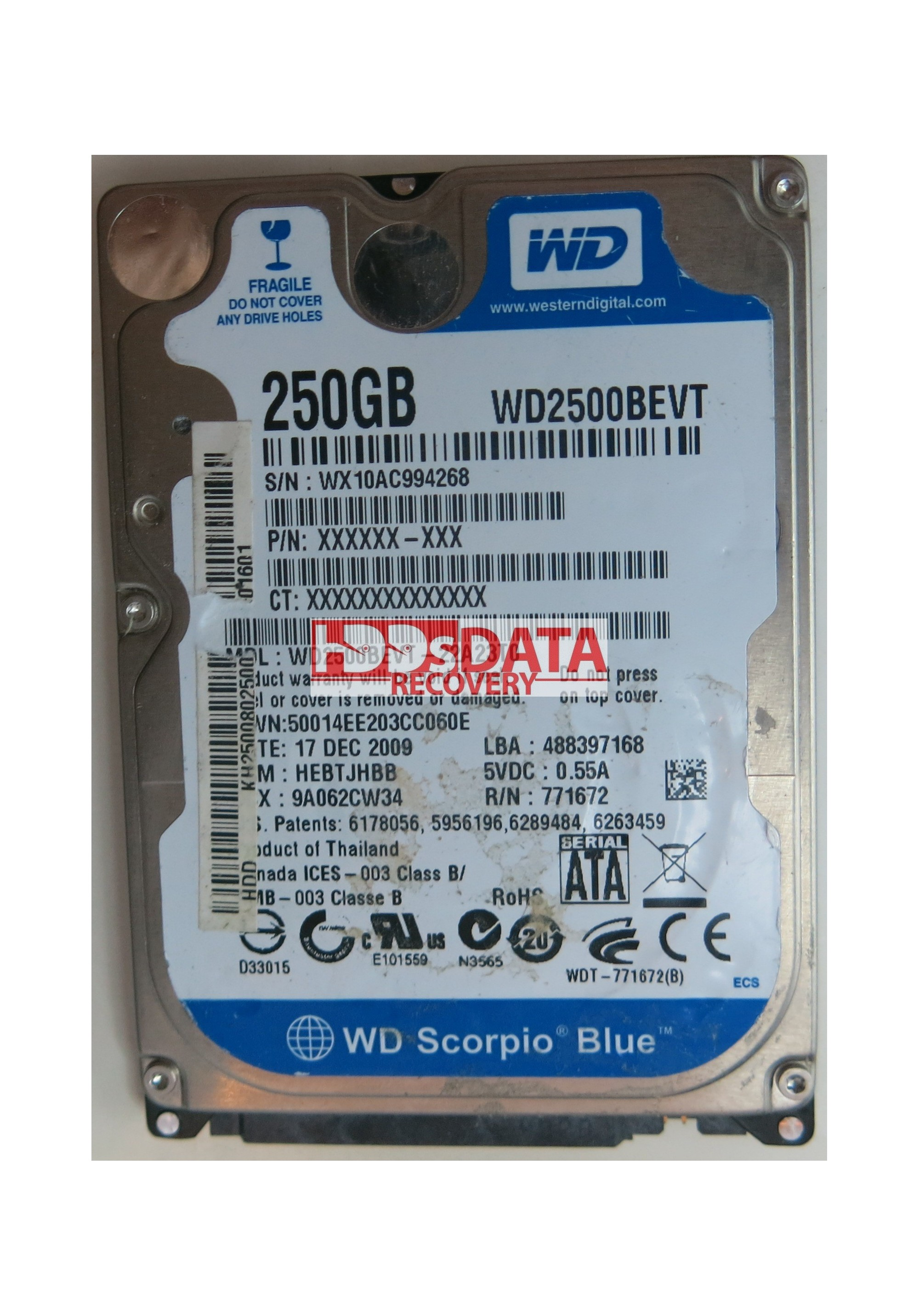 WESTERN DIGITAL WD2500BEVT DRIVERS FOR WINDOWS 7